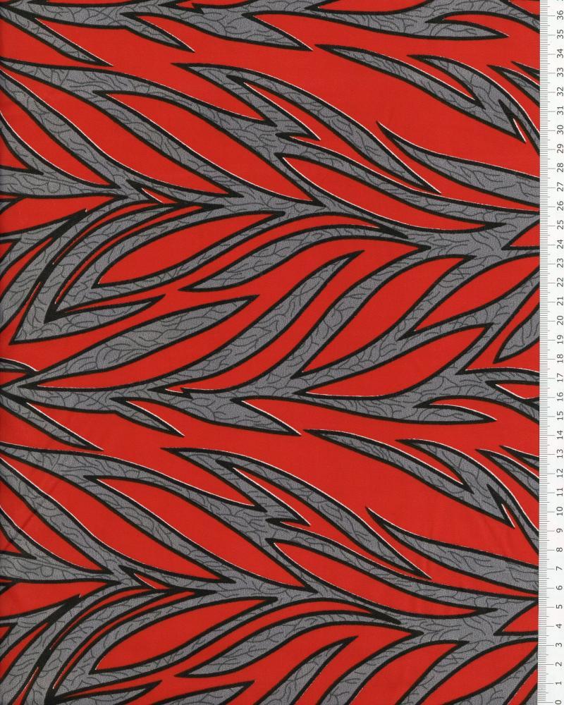 Polynesian Fabric RAITINI Red - Tissushop