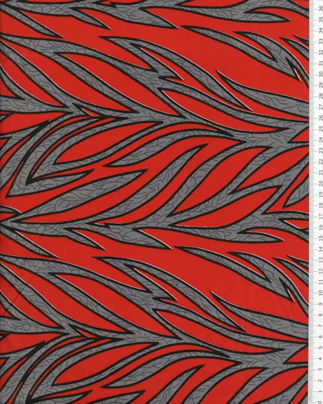 Polynesian Fabric RAITINI Red - Tissushop