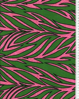 Tissu Polynésien RAITINI Vert - Tissushop