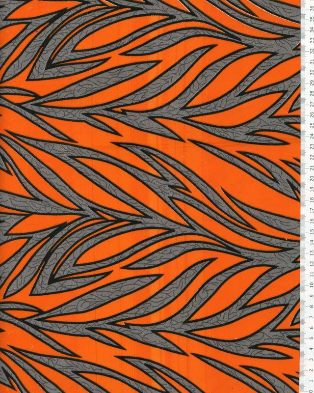 Tissu Polynésien RAITINI Orange - Tissushop