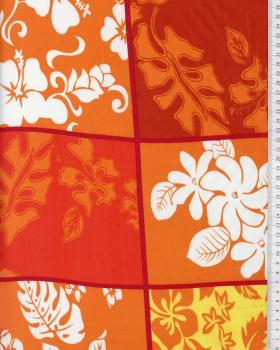 Tissu Polynésien KAIPO Rouge - Tissushop