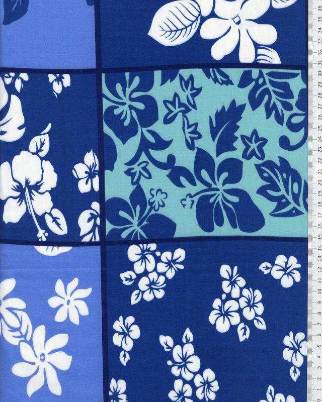 Polynesian Fabric KAIPO Blue - Tissushop