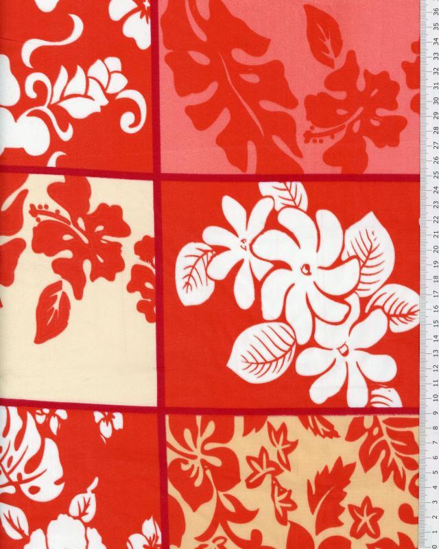 Tissu Polynésien KAIPO Rose - Tissushop
