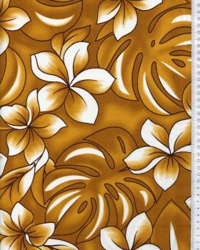 Tissu Polynésien KALAN Ocre - Tissushop
