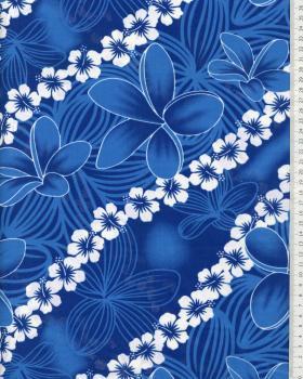 Tissu Polynésien KAINOA Bleu - Tissushop