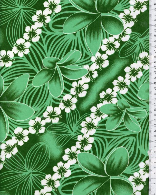 Polynesian Fabric KAINOA Green - Tissushop