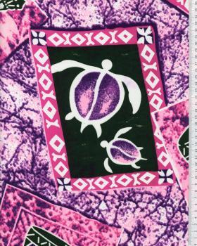 Tissu Polynésien KAMILO Rose - Tissushop