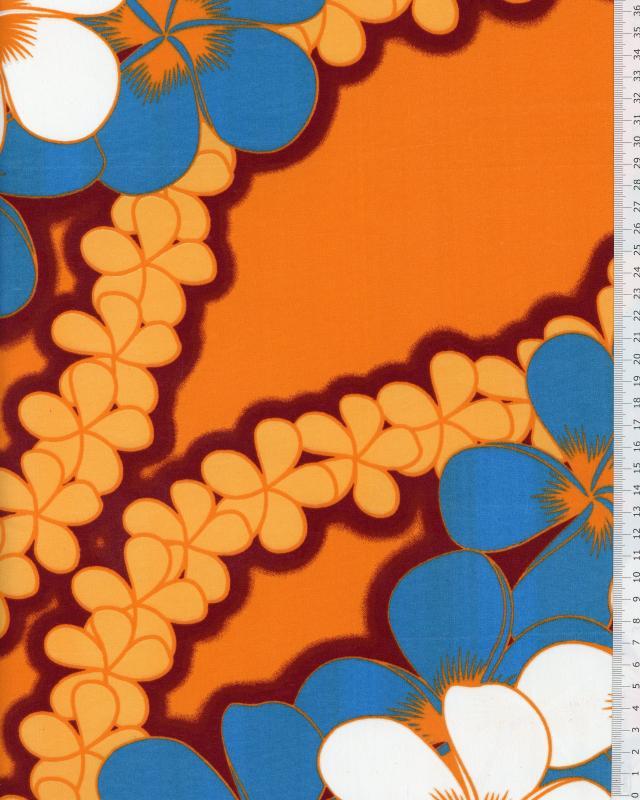 Polynesian Fabric KATAI Bordeaux - Tissushop