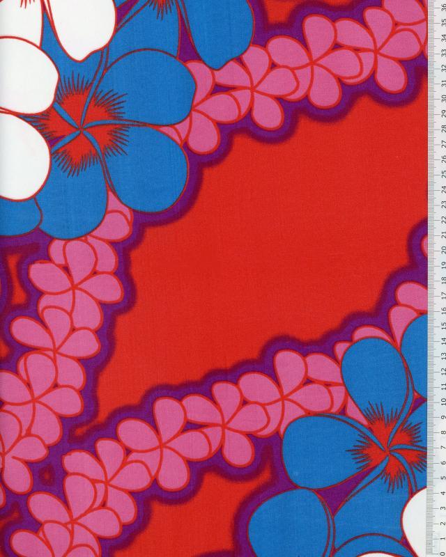Polynesian Fabric KATAI Red - Tissushop