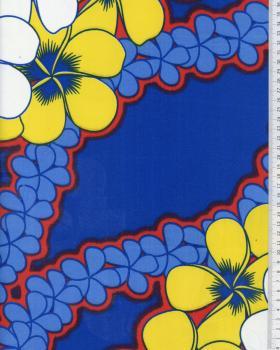 Tissu Polynésien KATAI Bleu - Tissushop