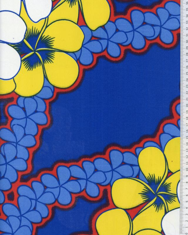 Polynesian Fabric KATAI Blue - Tissushop
