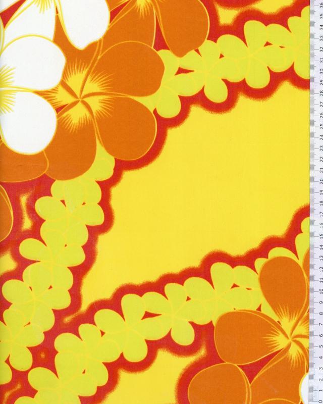 Polynesian Fabric KATAI Yellow - Tissushop