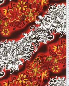 Tissu Polynésien KARI Rouge - Tissushop