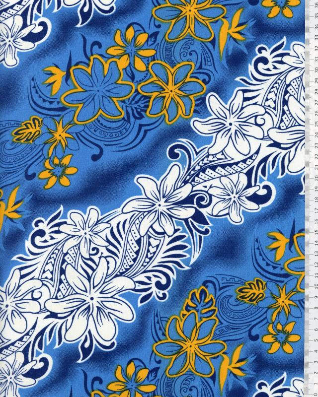Polynesian Fabric KARI Blue - Tissushop