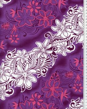 Tissu Polynésien KARI Violet - Tissushop