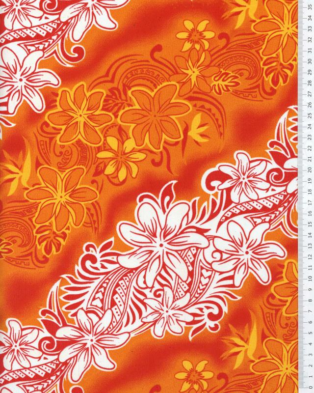 Polynesian Fabric KARI Apricot - Tissushop