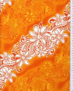 Tissu Polynésien KARI Orange - Tissushop