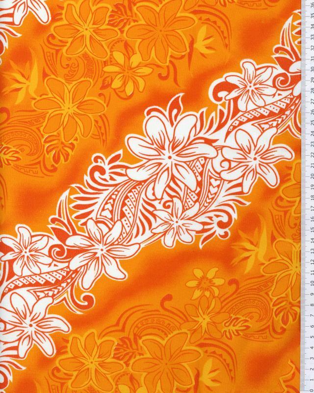 Polynesian Fabric KARI Orange - Tissushop