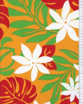 Tissu Polynésien KEA Orange - Tissushop