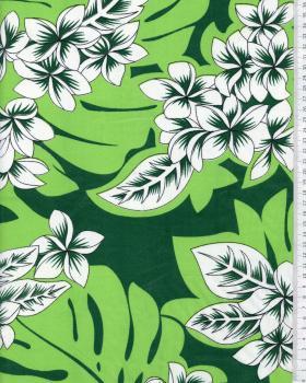 Tissu Polynésien KEAWE Vert - Tissushop