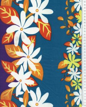 Polynesian Fabric KELA Blue - Tissushop