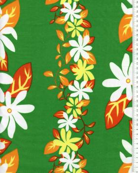 Polynesian Fabric KELA Green - Tissushop