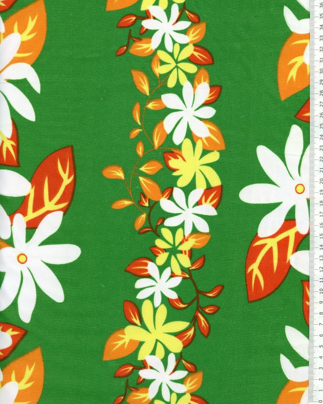 Polynesian Fabric KELA Green - Tissushop