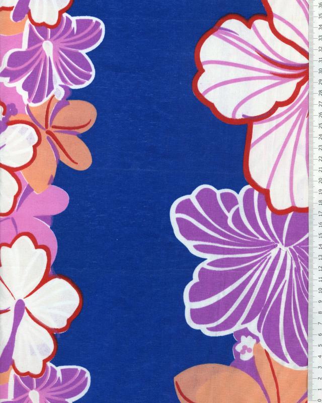 Polynesian Fabric KEONI Blue - Tissushop