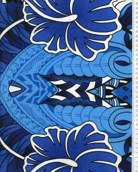 Tissu Polynésien TIHARA Bleu - Tissushop