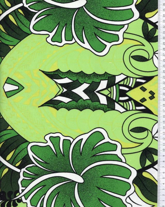 Polynesian Fabric TIHARA Green - Tissushop