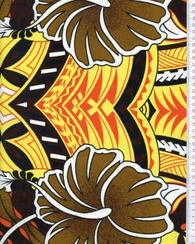 Tissu Polynésien TIHARA Jaune - Tissushop
