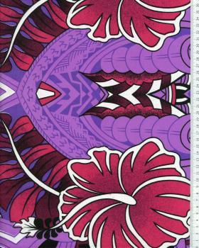 Tissu Polynésien TIHARA Violet - Tissushop