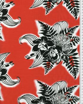 Polynesian Fabric ENOA Red - Tissushop
