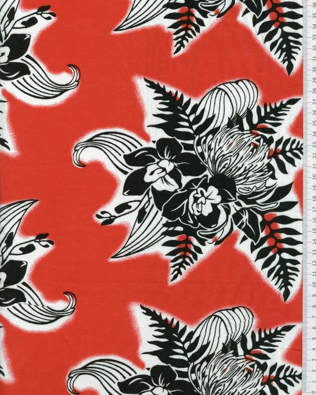 Polynesian Fabric ENOA Red - Tissushop