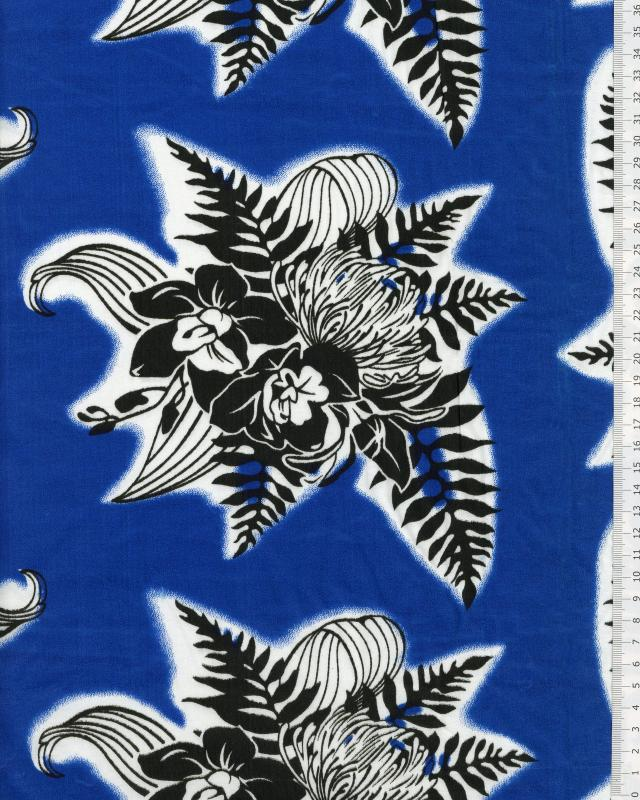 Polynesian Fabric ENOA Blue - Tissushop