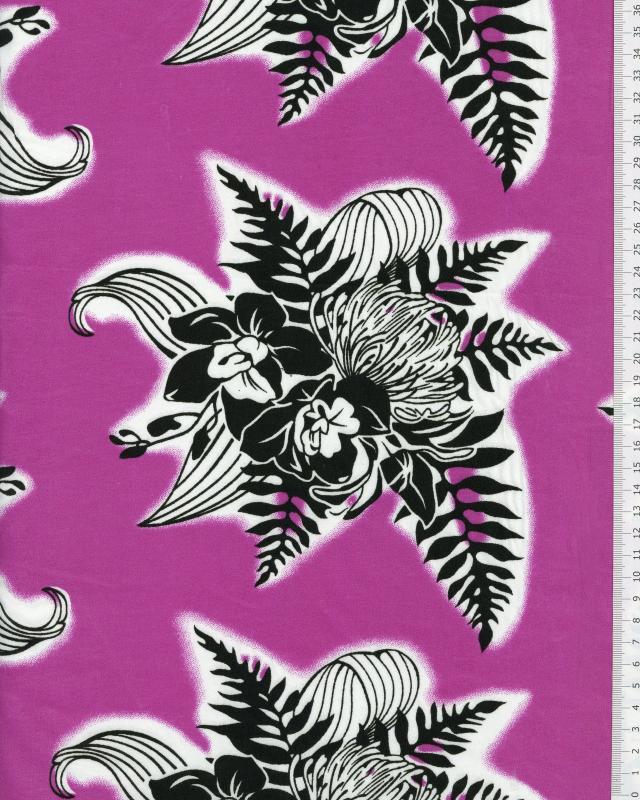 Tissu Polynésien ENOA Violet - Tissushop