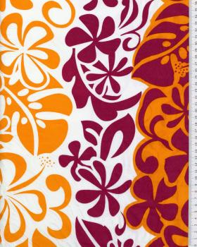 Polynesian Fabric EIMEO Bordeaux - Tissushop