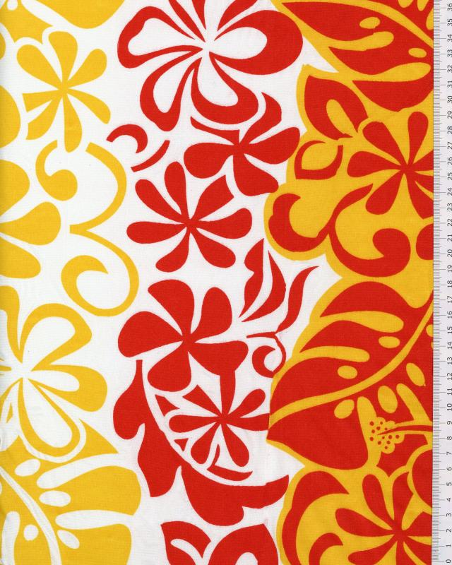 Polynesian Fabric EIMEO Red - Tissushop
