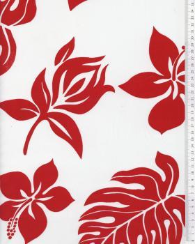 Polynesian Fabric MAEA White - Tissushop
