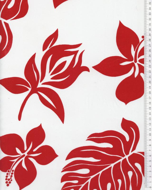Polynesian Fabric MAEA White - Tissushop
