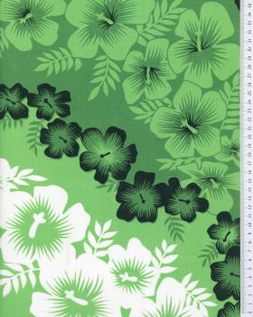 Polynesian Fabric MAEATA Green - Tissushop