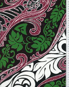Tissu Polynésien VAIRANI Violet - Tissushop