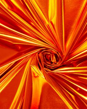 Lycra Foiled Orange - Tissushop