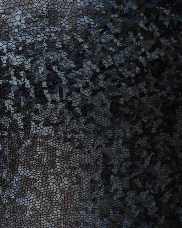 Lycra Imitation Serpent Noir - Tissushop
