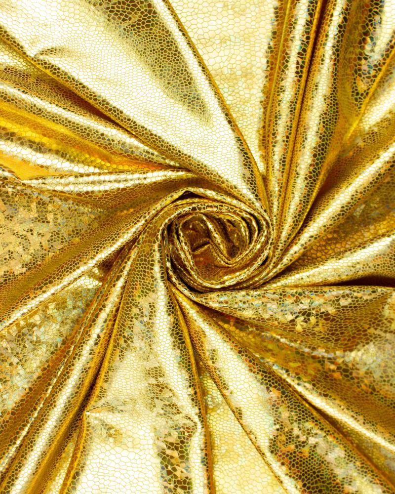 Lycra Imitation Snake Gold - Tissushop