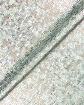 Lycra Imitation Serpent Argent - Tissushop