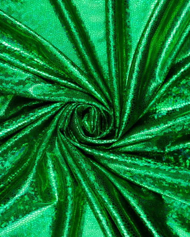 Lycra Imitation Serpent Vert - Tissushop