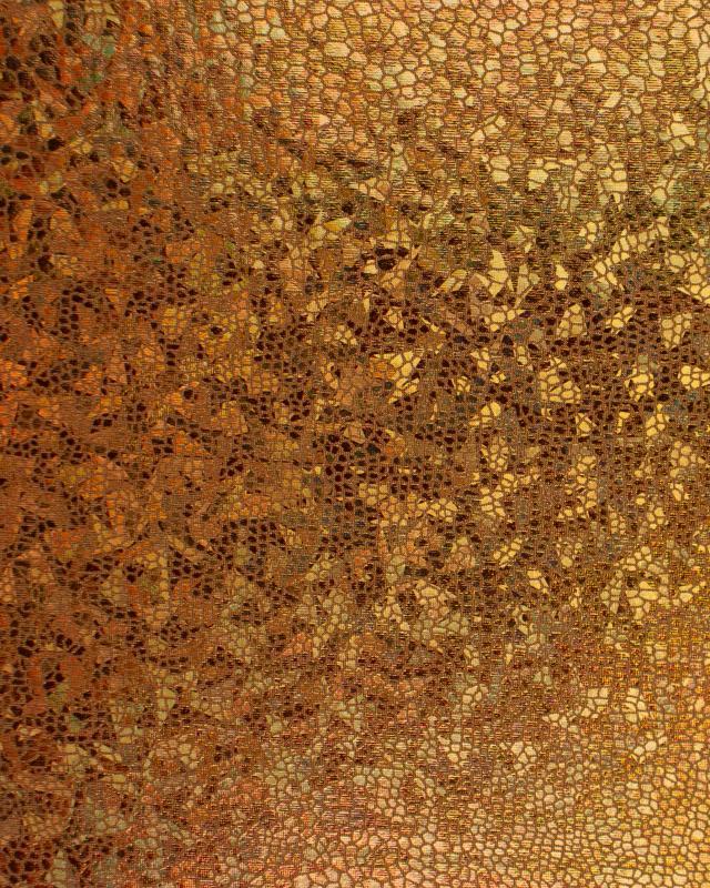 Lycra Imitation Snake Copper - Tissushop