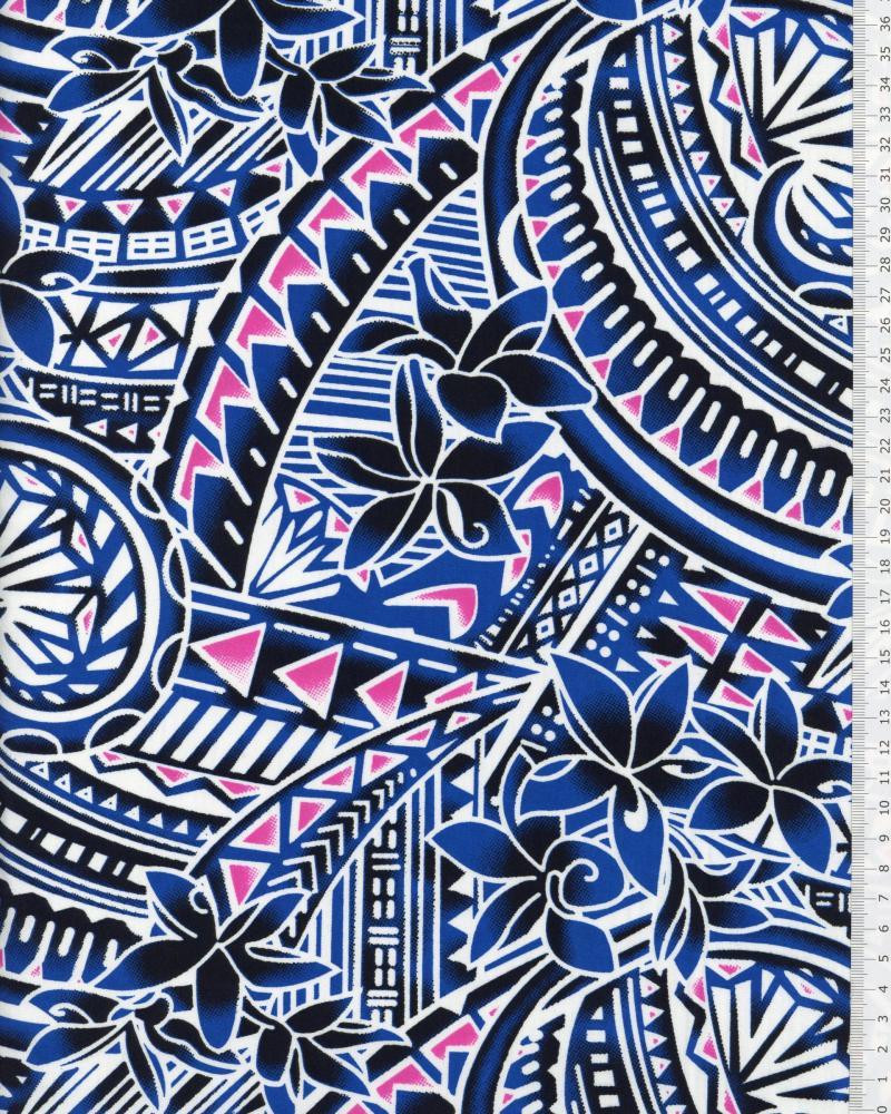 Polynesian Fabric MANOA Blue - Tissushop