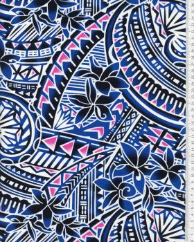 Polynesian Fabric MANOA Blue - Tissushop